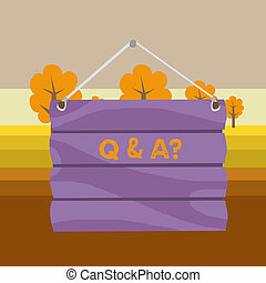 Text sign showing Q And A Question. Conceptual photo in ...