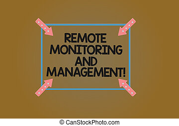 Text sign showing Remote Monitoring And Management. ...