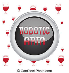Text sign showing Robotic Arm. Conceptual photo programmable...