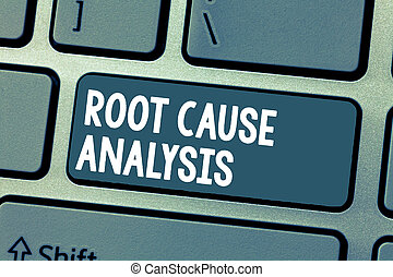Text sign showing Root Cause Analysis. Conceptual photo Method of Problem Solving Identify Fault or Problem