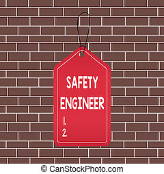 Text sign showing Safety Engineer. Conceptual photo ...