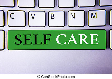 Text sign showing Self Care. Conceptual photo Protection you...