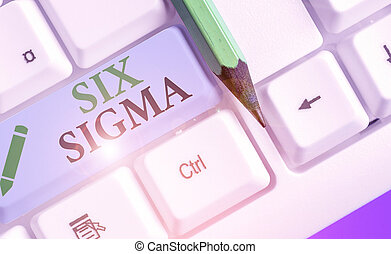Text sign showing Six Sigma. Conceptual photo set of ...