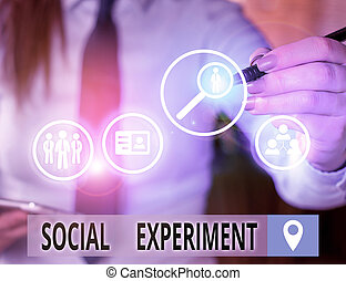 Text sign showing Social Experiment. Conceptual photo the ...