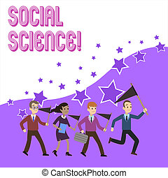 Text sign showing Social Science. Business photo text scientific study of huanalysis society and social relationships