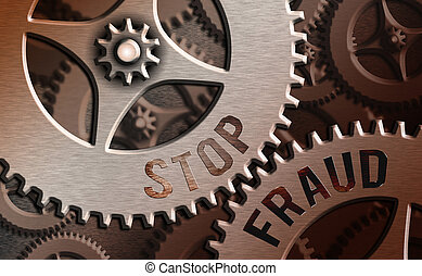 Text sign showing Stop Fraud. Conceptual photo campaign ...