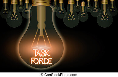 Text sign showing Task Force. Conceptual photo a group of ...