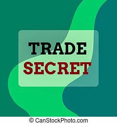 Text sign showing Trade Secret. Conceptual photo technique ...