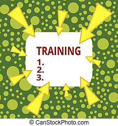 Text sign showing Training. Conceptual photo action of ...