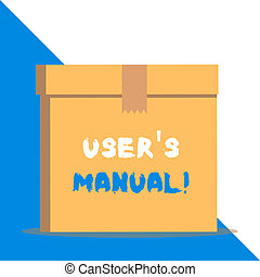 Text sign showing User S Is Manual. Conceptual photo Contains all essential information of the product.