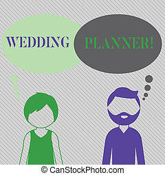 Text sign showing Wedding Planner. Conceptual photo ...