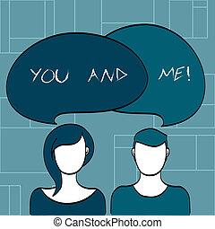 Text sign showing You And Me. Conceptual photo Couple ...