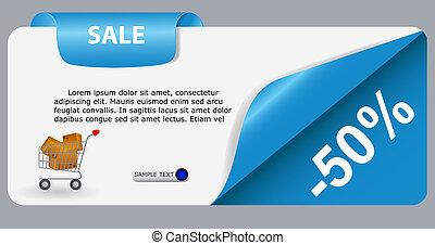 text., sprzedaż, ilustracja, wektor, miejsce, chorągiew, twój