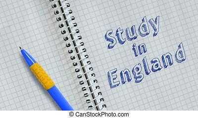 Study in England - Text Study in England handwritten on ...