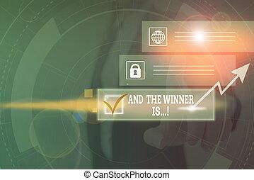 text, system, oder, konkurrenz, wort, is., schema, modern, zuerst, foto, klug, bild, vernetzung, gerieten, prüfung, device., verkünden, geschäftskonzept, technologie, ort, schreibende, gewinner