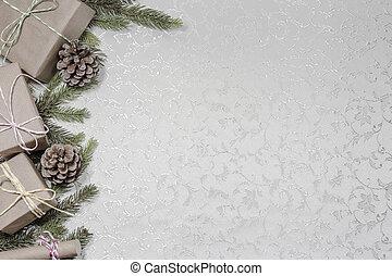 text, tom, jul, bakgrund, utrymme