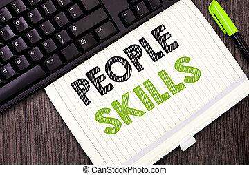 text, underteckna, visande, folk, skills., begreppsmässig,...
