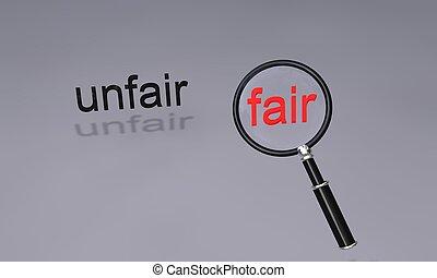 unfair fair - text unfair fair