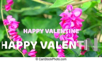 text, valentine, blume, glücklich, hintergrund,...