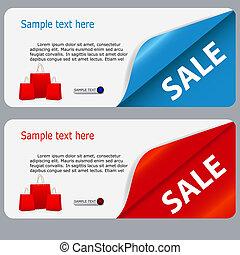 text., verkoop, illustratie, vector, plek, spandoek, jouw