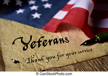 text veterans than you for your service - the text veterans...