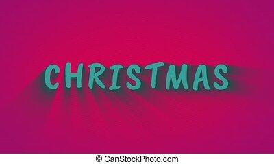 "Text with shadows ""Christmas"""