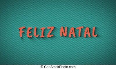 "Text with shadows ""Feliz Natal"" - Text with shadows 'Feliz..."