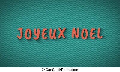 """Text with shadows """"Joyeux Noel"""" - Text with shadows 'Joyeux..."""