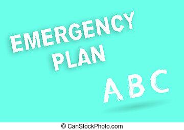 text, zeichen, ausstellung, notfall, plan., begrifflich, foto, verfahren, für, antwort, zu, major, notfälle, sein, vorbereitet