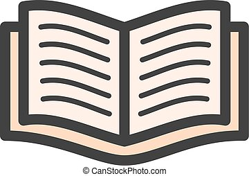 Textbook - Books, school, study icon vector image. Can also...