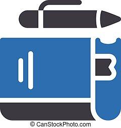 textbook vector glyph colour icon