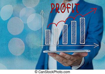 texte, économies, intérêts, ventes, levée, projection, ...