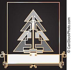 texte, étiquette, conception, fond, année, nouveau, noël carte