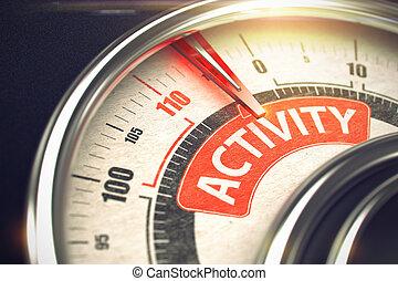 texte, activité, -, needle., compas, conceptuel, 3d., rouges