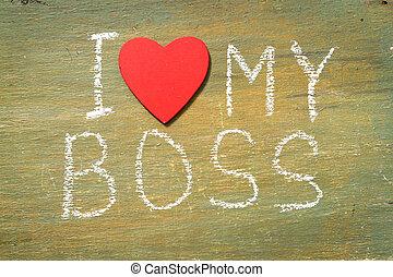 texte, amour, mon, patron