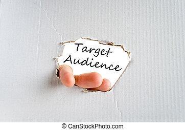 texte, audience, concept, cible