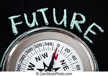 texte, avenir, compas