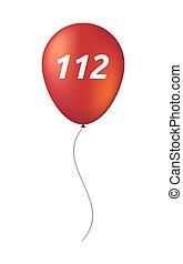 texte, balloon, isolé, 112