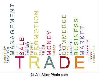 texte, barcode, coloré, commercer