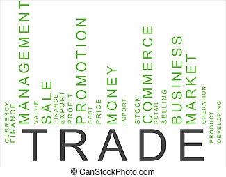 texte, barcode, vert, commercer