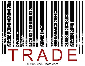 texte, black-red, barcode, commercer