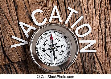 texte, bois, vacances, compas