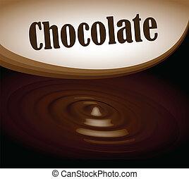 texte, cadre, éclaboussure, eps10, chocolat