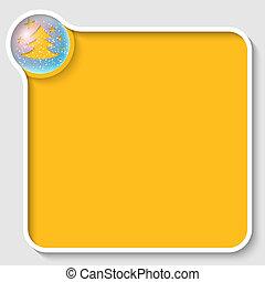 texte, cadre, arbre, noël, jaune