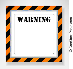 texte, cadre, avertissement