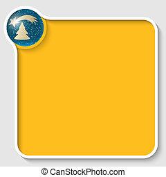 texte, cadre, motif, noël, jaune