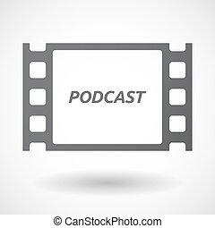 texte, cadre, podcast, isolé