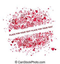 texte, cadre, valentin, conception, endroit, ton