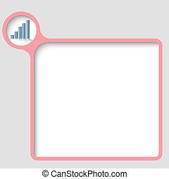 texte, cadre, vecteur, graphique