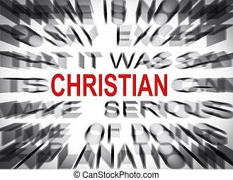 texte, chrétien, foyer, blured